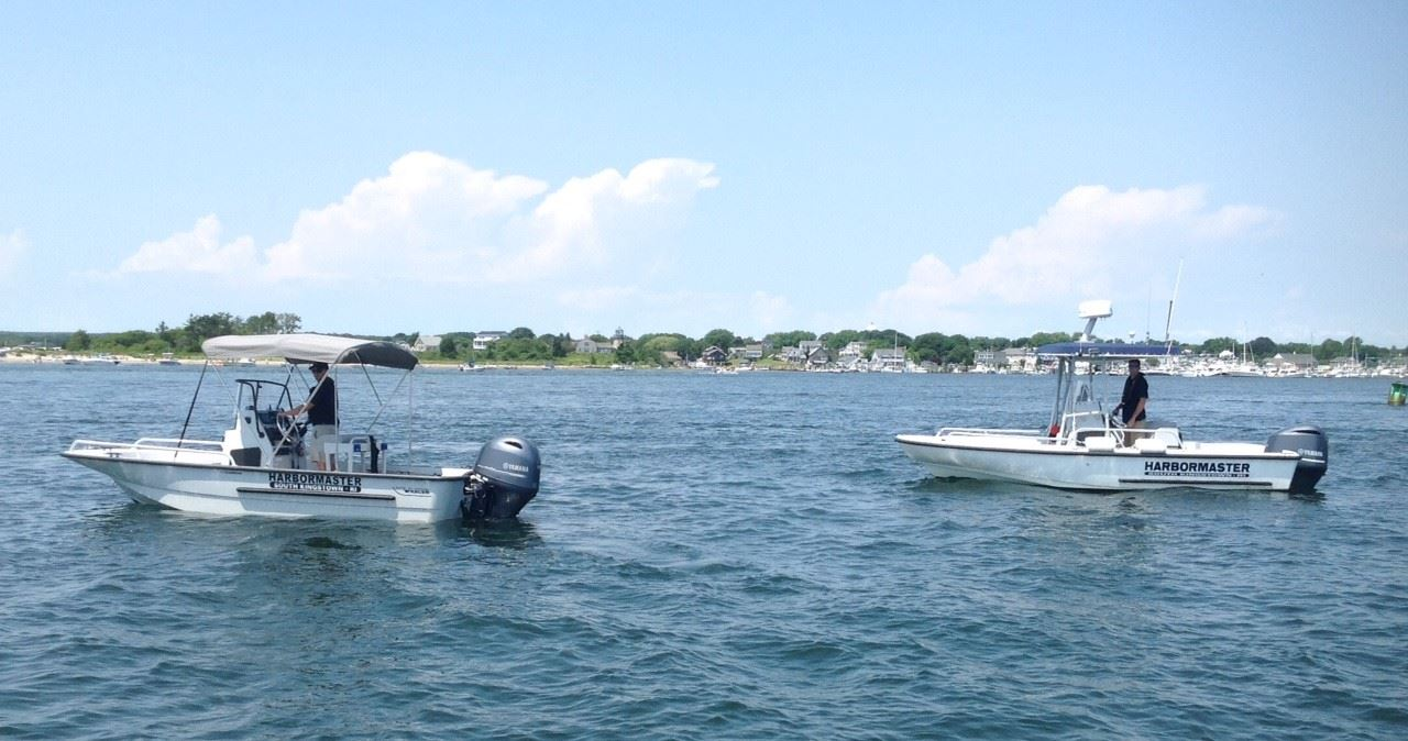 2019 Harbor Patrol boats on Salt Pond